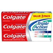 Colgate Triple Action Toothpaste, Mint - 6 Ounce, 3 Pack