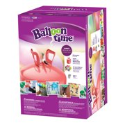 Balloon Time 12in Jumbo Helium Tank Kit, Includes 50 Balloons & Ribbon