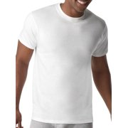 Mens ComfortBlend Tagless White Crew T-Shirts, 5 Pack