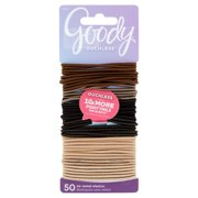 (2 Pack) Goody Ouchless No-Metal Elastics, 50 count