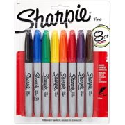 Sharpie Fine Point Permanent Marker, Assorted 8 ea (Pack of 2)