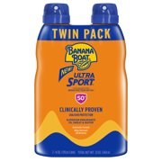 Banana Boat Ultra Sport Sunscreen C-Spray SPF 50+, 12 Oz Twin Pack