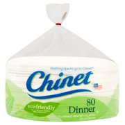 "Chinet Classic White Dinner Plates, 10 3/8"", 80 Count"