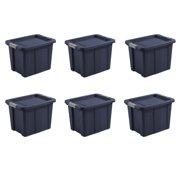 Sterilite, 18 Gal./68 L Latching Tuff1 Tote, Dark Indigo, Case of 6