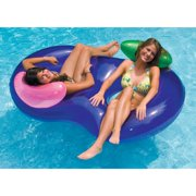 Swimline Vinyl Sidebyside Inflatable Pool Float, Purple