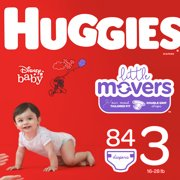 HUGGIES Little Movers Diapers, Size 3, 84 Count