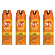 4 Off! Active Insect Repellent Spray Sweat Resistant Bug Spray 15% Deet Repels Mosquitoes