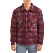 Climate Concepts Men's Plaid Heavy Weight Shirt Jacket with Sherpa Lining, up to Size 2Xl