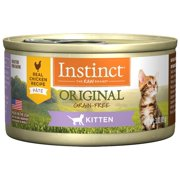 (Case of 24) Instinct Original Kitten Grain-Free Real Chicken Recipe Natural Wet Canned Cat Food by Nature's Variety, 3 oz. Cans