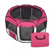 New Medium Red Pet Dog Cat Tent Playpen Exercise Play Pen Soft Crate T08