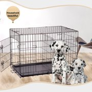 "BestPet 36"" Pet Kennel Cat Dog Folding Crate Wire Metal Cage W/Divider"