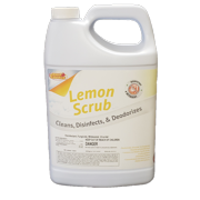 LemonScrub Concentrated Disinfectant & Cleaner 1:64, 1 Gallon