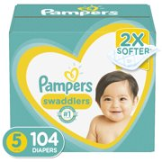 Pampers Swaddlers Soft and Absorbent Diapers, Size 5, 104 Ct