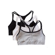 Women's Strappy Sports Bra, Style 9036, 3-Pack