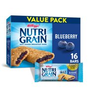 Kellogg's Nutri-Grain, Soft Baked Breakfast Bars, Blueberry, 20.8 Oz, 16 Ct