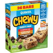 Quaker Chewy Granola Bars, 3 Flavor Variety Pack (36 Pack)