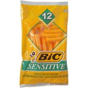 2 Pack - BIC Sensitive Shaver Disposable Razor 12 ea