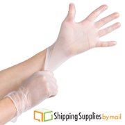 Powder Free Clear Vinyl Disposable Gloves, 4.5 Mil Medium 100 Count