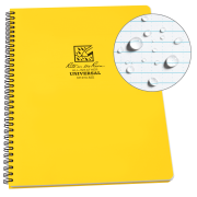 "Rite in the Rain Weatherproof Side Spiral Notebook, 8.5"" x 11"", Yellow Cover, Universal Page Pattern (No. 373-MX)"