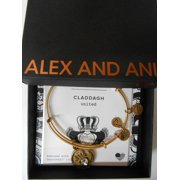 Alex and Ani Charity By Design, Claddagh Rafaelian Gold Bangle Bracelet