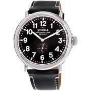 Shinola The Runwell Black Dial Black Leather Mens Watch S0100012