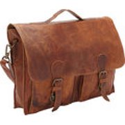 Sharo Soft Leather Laptop Messenger Bag and Brief