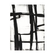 Expessive Silence II Minimalist Modern Black and White Abstract Painting Print Wall Art By Sydney Edmunds