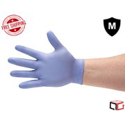 Blue Nitrile Disposable Powder Free 3 Mil Gloves - Size: Medium - 100 Pieces (1 Box)