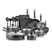 T-fal Easy Care Nonstick 20-Piece Set, Grey, B087SKDW