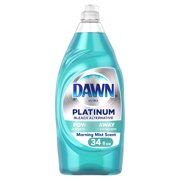 Dawn Platinum Liquid Dish Soap, Morning Mist, 34 fl oz