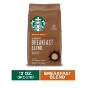 Starbucks Medium Roast Ground Coffee — Breakfast Blend — 100% Arabica — 1 bag (12 oz.)