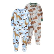 Child of Mine Boys Microfleece 2-Pack Pajama Blanket Sleeper Sizes 5-8