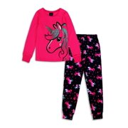 Jellifish Kids Girls Printed 2-Piece Pajama Set Sizes 4-14