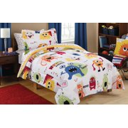 Mainstays Kids Monster Mix Bed-in-a-Bag Coordinating Bedding Set