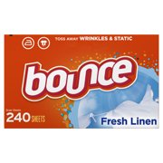 Bounce Dryer Sheets, Fresh Linen Scent, 240 Count