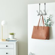 Mainstays Bronze Finish Over-the-Door 3 Hook Rack