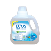 ECOS Plus Liquid Laundry Detergent with Stain-Fighting Enzymes, Free & Clear, 120 Loads, 110oz
