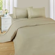 Somerset Home Series Microfiber Sheet Set, Beige, Queen