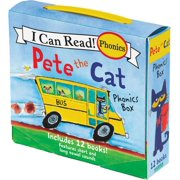 My First I Can Read: Pete the Cat 12-Book Phonics Fun!: Includes 12 Mini-Books Featuring Short and Long Vowel Sounds (Paperback)