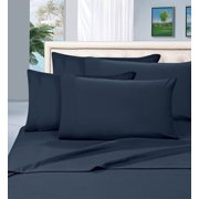 "Elegant Comfort ® Wrinkle Resistant - 1500 Thread Count 6 pc Sheet set, Deep Pocket Up to 16"" - All Size and Colors , Queen, Navy"
