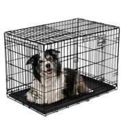 "Vibrant Life Double-Door Folding Dog Crate with Divider, Large, 42""L"