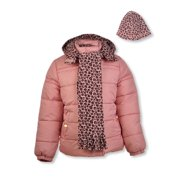 Pink Platinum Girls Cheetah-Print Puffer Coat with Gift with Purchase, Sizes 4-16