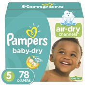 Pampers Baby-Dry Extra Protection Diapers, Size 5, 78 Count
